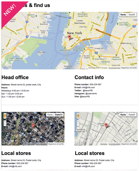 Adding Google maps to your Facebook page by Decorio app creator